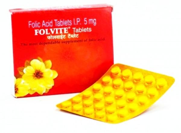 Generic Folic Acid 5 mg Tab