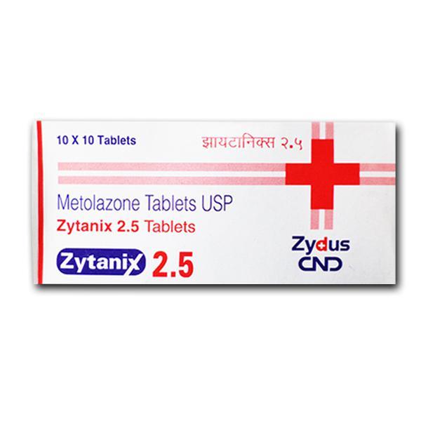 Generic Zaroxolyn 2.5 mg Tab