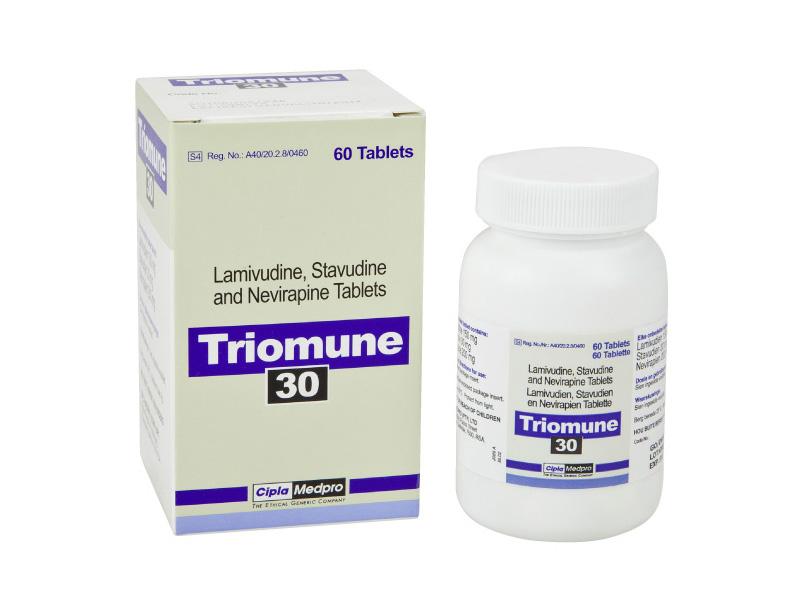Generic Lamivudine ( 150 mg ) + Stavudine ( 30 mg) + Nevirapine ( 200 mg ) Tab