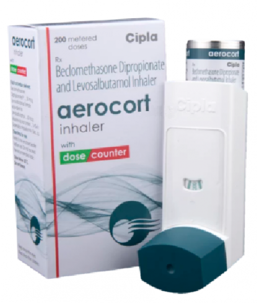 Generic Levalbuterol ( 50 mcg ) + Beclometasone ( 50 mcg ) Inhaler ( 200 Doses )
