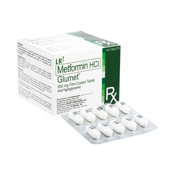 Glucophage 850mg Tablets (Generic Equivalent)