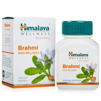 Box and a bottle of Brahmi Tablet (Mind Wellness) Himalaya Pure Herbs