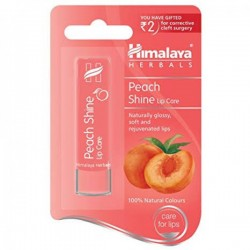 A pack of Peach 4.5 gm (Himalaya) Shine Lip Care balm