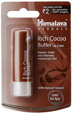 A pack of Rich Cocoa Butter 4.5 gm (Himalaya) Lip Care Balm
