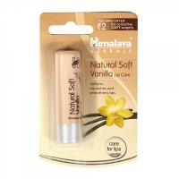 A pack of Natural Soft Vanilla 4.5 gm (Himalaya) Lip Care Balm
