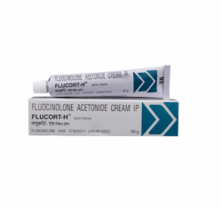 A tube and a box Generic Synalar 0.1 Percent Skin Cream of 30gm - Fluocinolone acetonide
