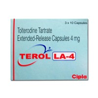 Box of generic Tolterodine 4mg Caps