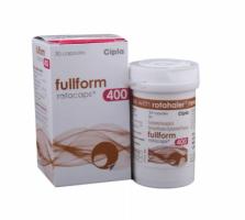 Box pack of generic Beclometasone (400mcg) + Formoterol (6mcg) Rotacap with Rotahaler