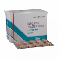 Box and a blister of Generic Comtan 200mg Tab - Entacapone
