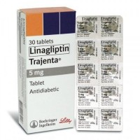 Box pack and a blister of generic Linagliptin 5mg Tab