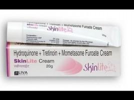 A tube and a box of Generic Hydroquinone ( 2 % ) + Mometasone ( 0.1 % ) + Tretinoin ( 0.025 % ) 20gm Cream
