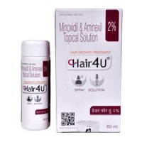 Box and a bottle of generic Minoxidil (2 % ) + Aminexil (1.5 % ) Solution