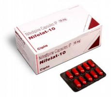 Box and a blister of Generic Procardia 10 mg Caps - Nifedipine