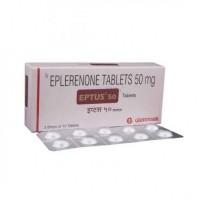 Box and a strip of Generic Inspra 50 mg Tab - Eplerenone