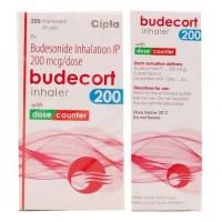 Front and backside of Budesonide 200mcg Inhaler Box pack