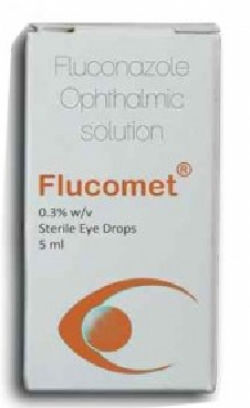 Box pack of generic Fluconazole 0.3% Eye Drop