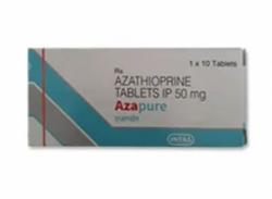 Box pack of generic Azathioprine 50mg Tab