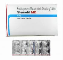 Box and a strip of Generic Compazine 5mg Tab - Prochlorperazine