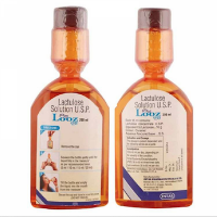 Front and backside of a bottle of Generic Constilac 10gm Solution - Lactulose