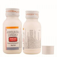 Bottle of generic Amoxycillin Oral Suspension 250mg Dry Syrup 60ml