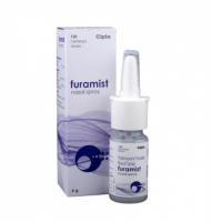 A box and a spray bottle of Fluticasone Furoate (27.5mcg) Solution
