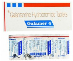 Box and a blister of Galantamine 4mg Tablet