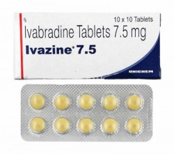 Box pack and a blister of generic Ivabradine 7.5 mg Tablet