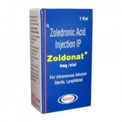 Box of Generic Zometa 4 mg Injection - Zoledronic Acid