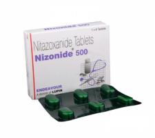 Box and blister of Generic Alinia 500 mg Tab - Nitazoxanide