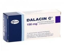 Box of generic Clindamycin 150mg Capsule
