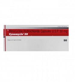 Box of generic Minocycline HCL 50mg Capsule