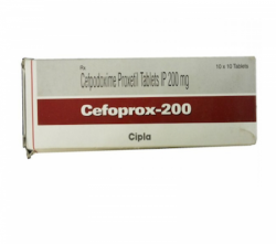Box of generic Cefpodoxime Proxetil 200mg Tablet
