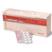 Box pack and a strip of generic Triamcinolone 4mg Tablet