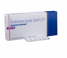 Box pack and a blister of Generic Aygestin 5mg Tab - Norethindrone