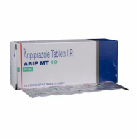 Box and blister strip of generic Aripiprazole 10mg tablet