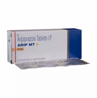 Box and blister strip of generic Aripiprazole 5mg tablet