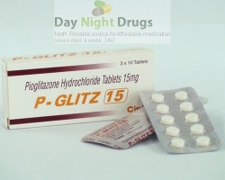Box pack and a few strips of generic Pioglitazone Hydrochloride 15mg tablets