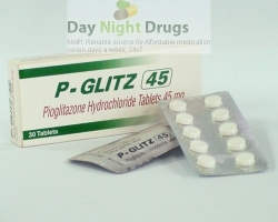 Box pack and few blisters of generic Pioglitazone Hydrochloride 45mg tablets