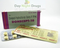 Box pack and strips of Donepezil HCl 10mg tablets