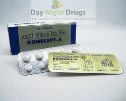 Box pack and strips of generic Donepezil HCl 5mg tablets