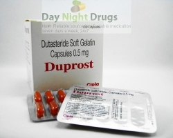 Box and few strips of generic Dutasteride 0.5mg capsule