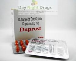 Box and few strips of generic Dutasteride 0.5mg capsule