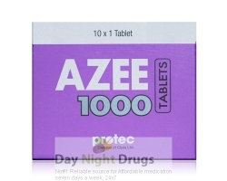 Box of generic azithromycin  1000mg tablet