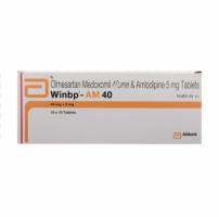 Box of generic olmesartan 40 mg, amlodipine 5 mg
