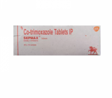 A box of generic Sulfamethoxazole Trimethoprim 400mg 80mg Tablets