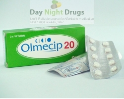 Box pack and two strips of generic Olmesartan Medoxomil 20mg tablets
