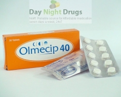 Box pack and two blisters of generic Olmesartan Medoxomil 40mg tablets