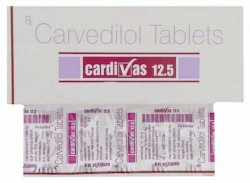 Box and blister strip of generic Carvedilol 12.5mg tablet