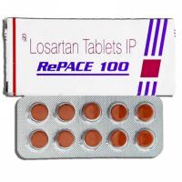 Box and blister strip of generic Losartan Potassium 100mg tablets