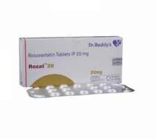 Box and blister strip of generic Rosuvastatin Calcium 20mg tablets